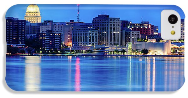Capitol Building iPhone 5c Case - Madison Skyline Reflection by Sebastian Musial