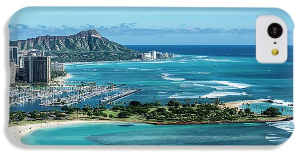 Helicopter iPhone 5c Case - Magic Island To Diamond Head by Sean Davey