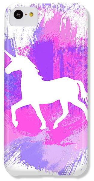 Unicorn iPhone 5c Case - Magic Unicorn 1- Art By Linda Woods by Linda Woods