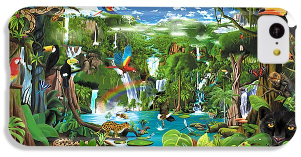 Toucan iPhone 5c Case - Magnificent Rainforest by Gerald Newton