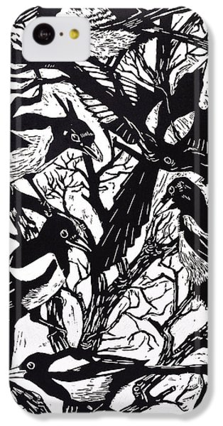 Magpies iPhone 5c Case - Magpies by Nat Morley