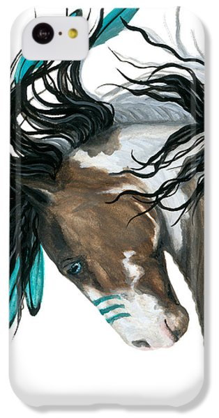 Horse iPhone 5c Case - Majestic Turquoise Horse by AmyLyn Bihrle