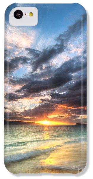 Beach Sunset iPhone 5c Case - Makena Beach Maui Hawaii Sunset by Dustin K Ryan