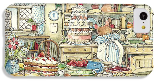 Mouse iPhone 5c Case - Making The Wedding Cake by Brambly Hedge