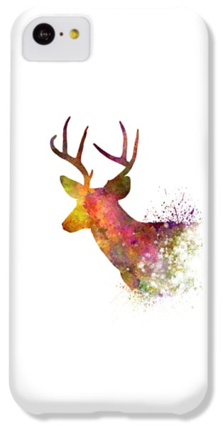 Male Deer 02 In Watercolor IPhone 5c Case by Pablo Romero