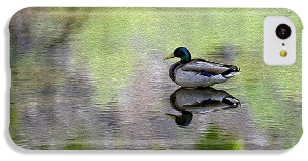 IPhone 5c Case featuring the photograph Mallard In Mountain Water by Mark Myhaver