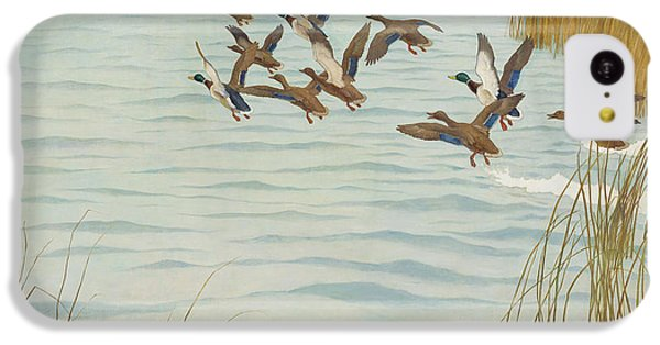 Mallards In Autumn IPhone 5c Case by Newell Convers Wyeth