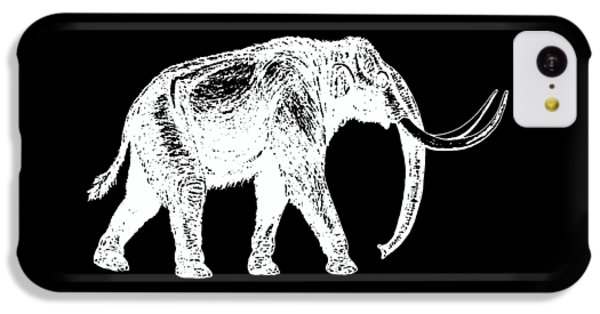 Mammoth White Ink Tee IPhone 5c Case by Edward Fielding