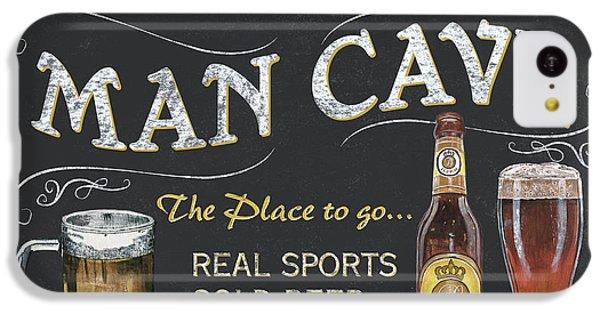 Cocktails iPhone 5c Case - Man Cave Chalkboard Sign by Debbie DeWitt