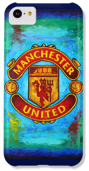 Soccer iPhone 5c Case - Manchester United Vintage by Dan Haraga
