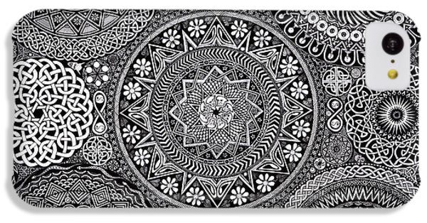 Vegetables iPhone 5c Case - Mandala Bouquet by Matthew Ridgway