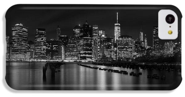 Manhattan At Night In Black And White IPhone 5c Case