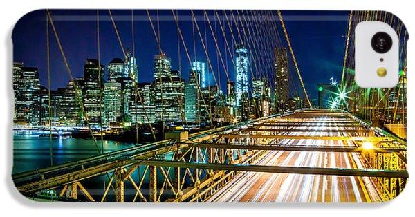 Brooklyn Bridge iPhone 5c Case - Manhattan Bound by Az Jackson