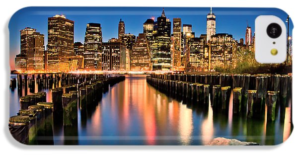 Manhattan Skyline At Dusk IPhone 5c Case by Az Jackson