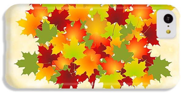 Orange iPhone 5c Case - Maple Leaves by Anastasiya Malakhova