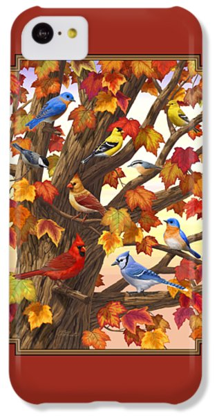 Finch iPhone 5c Case - Maple Tree Marvel - Bird Painting by Crista Forest