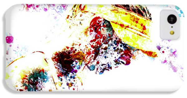 Maria Sharapova Paint Splatter 4p                 IPhone 5c Case by Brian Reaves