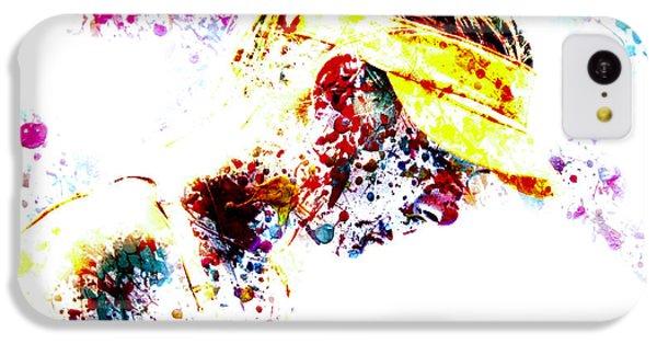 Maria Sharapova Paint Splatter 4p                 IPhone 5c Case by Brian Reaves