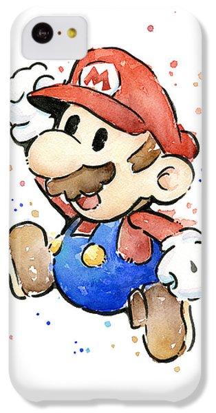 Mario Watercolor Fan Art IPhone 5c Case by Olga Shvartsur