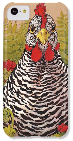 Chicken iPhone 5c Case - Matilda In The Geraniums by Tracie Thompson
