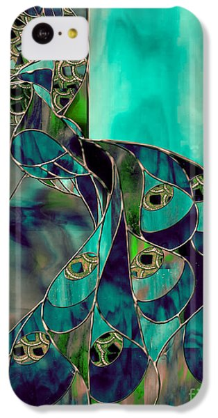 Peacock iPhone 5c Case - Mating Season Stained Glass Peacock by Mindy Sommers