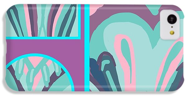 The Art Of Gandy iPhone 5c Case - Mauve In Jazz 2 by Joan Ellen Gandy of The Art Of Gandy