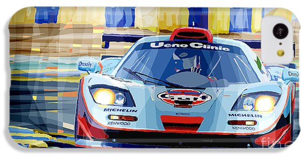 Car iPhone 5c Case - Mclaren Bmw F1 Gtr Gulf Team Davidoff Le Mans 1997 by Yuriy Shevchuk