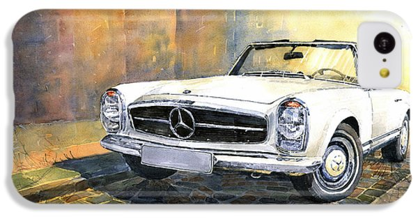 Car iPhone 5c Case - Mercedes Benz W113 280 Sl Pagoda Front by Yuriy Shevchuk