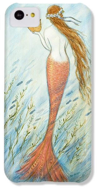 Catfish iPhone 5c Case - Mermaid And Her Catfish, Goldie by Tina Obrien