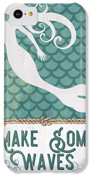 Seahorse iPhone 5c Case - Mermaid Waves 1 by Debbie DeWitt