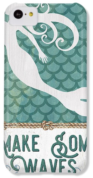 Fairy iPhone 5c Case - Mermaid Waves 1 by Debbie DeWitt