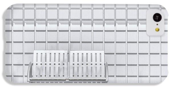 Repeat iPhone 5c Case - Metal Bench Against Concrete Squares by Scott Norris
