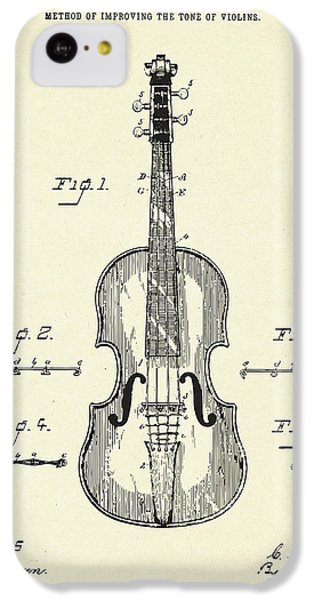 Violin iPhone 5c Case - Method Of Improving The Tone Of Violins-1888 by Pablo Romero