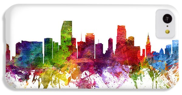 Miami Cityscape 06 IPhone 5c Case by Aged Pixel
