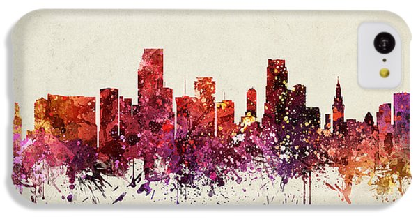 Miami Cityscape 09 IPhone 5c Case by Aged Pixel