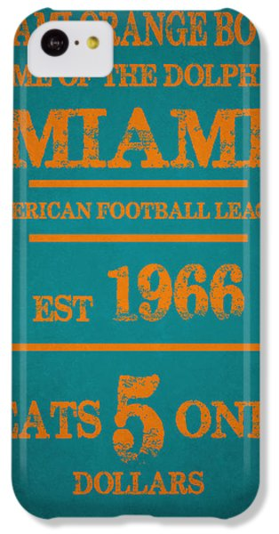Miami Dolphins Sign IPhone 5c Case by Joe Hamilton