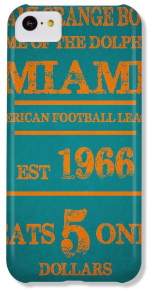 Miami Dolphins Sign IPhone 5c Case by Joe Hamilton