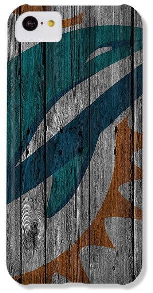 Miami Dolphins Wood Fence IPhone 5c Case by Joe Hamilton