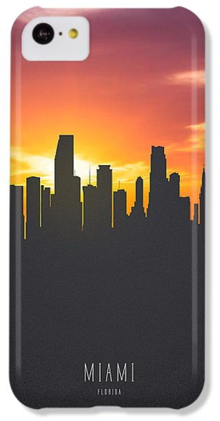 Miami Florida Sunset Skyline 01 IPhone 5c Case