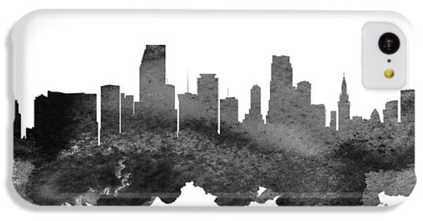 Miami Florida Skyline 18 IPhone 5c Case by Aged Pixel