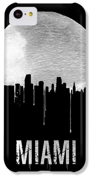 Miami iPhone 5c Case - Miami Skyline Black by Naxart Studio