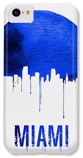 Miami iPhone 5c Case - Miami Skyline Blue by Naxart Studio