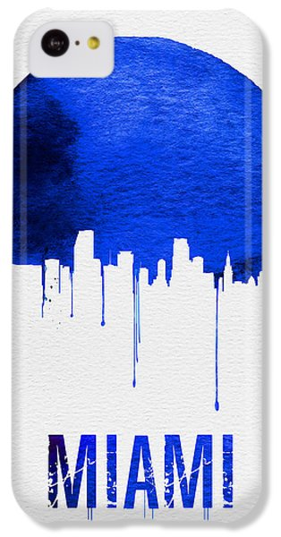 Miami Skyline Blue IPhone 5c Case by Naxart Studio