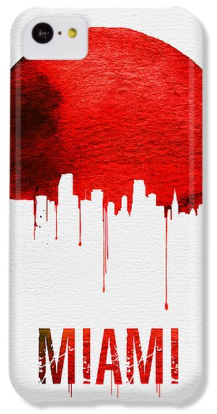 Miami iPhone 5c Case - Miami Skyline Red by Naxart Studio