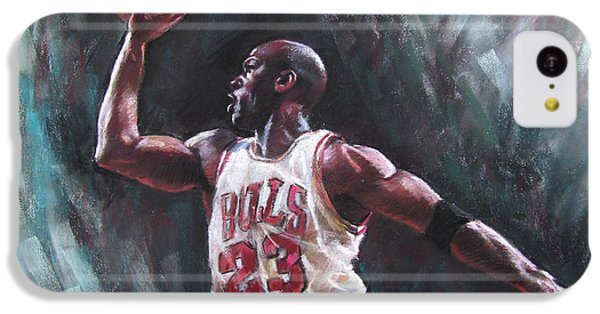 Bull iPhone 5c Case - Michael Jordan by Ylli Haruni