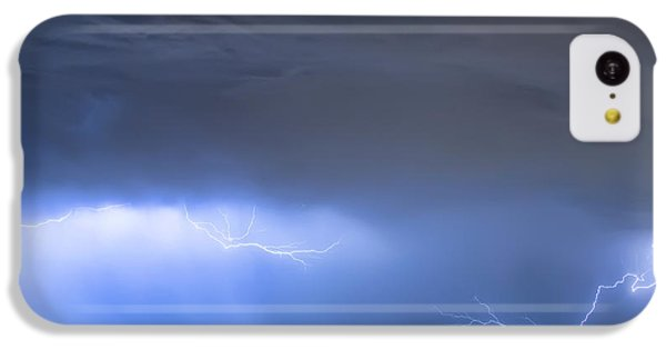IPhone 5c Case featuring the photograph Michelangelo Lightning Strikes Oil by James BO Insogna