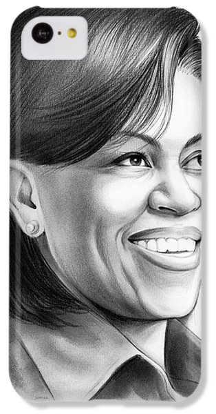 Michelle Obama IPhone 5c Case by Greg Joens