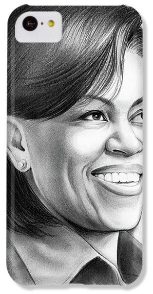 Michelle Obama IPhone 5c Case by Greg Joens