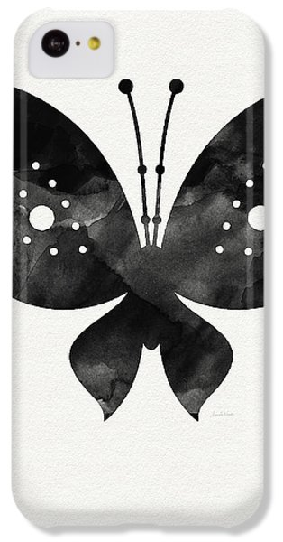 Midnight Butterfly 2- Art By Linda Woods IPhone 5c Case by Linda Woods