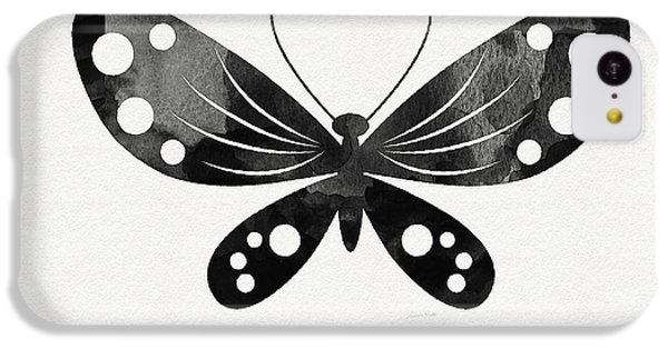 Midnight Butterfly 3- Art By Linda Woods IPhone 5c Case